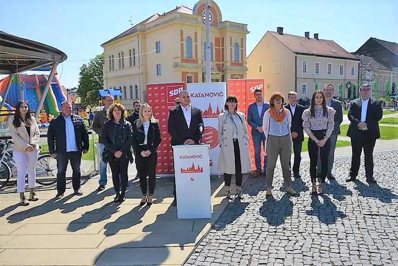 Na Dan grada Križevaca Marko Katanović (SDP) predstavio kandidate za Gradsko vijeće Grada Križevaca