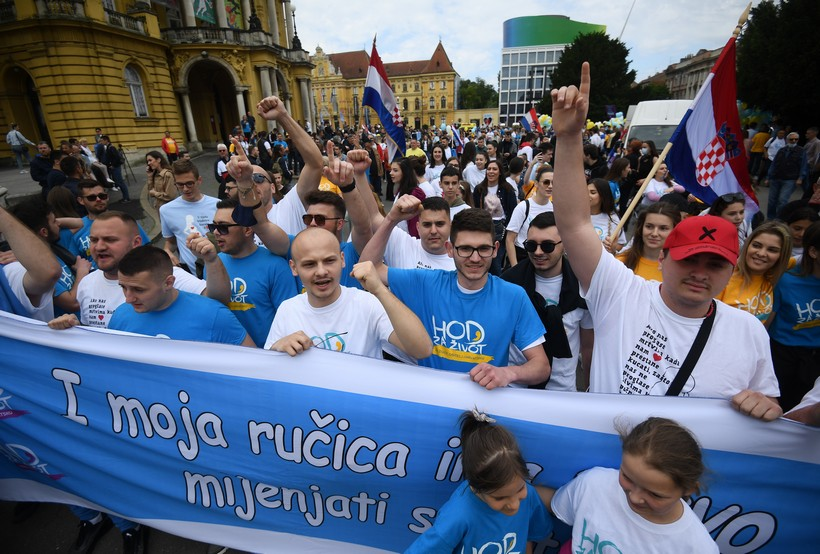 Hod za život u Zagrebu okupio brojne građane: 'Ljudima je falilo zajedništvo'
