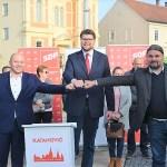 Predsjednik SDP-a u Križevcima dao podršku Marku Katanoviću i Mladenu Kešeru / Peđa Grbin: U Križevcima se kampanja vodi iz srca, SDP-ovski