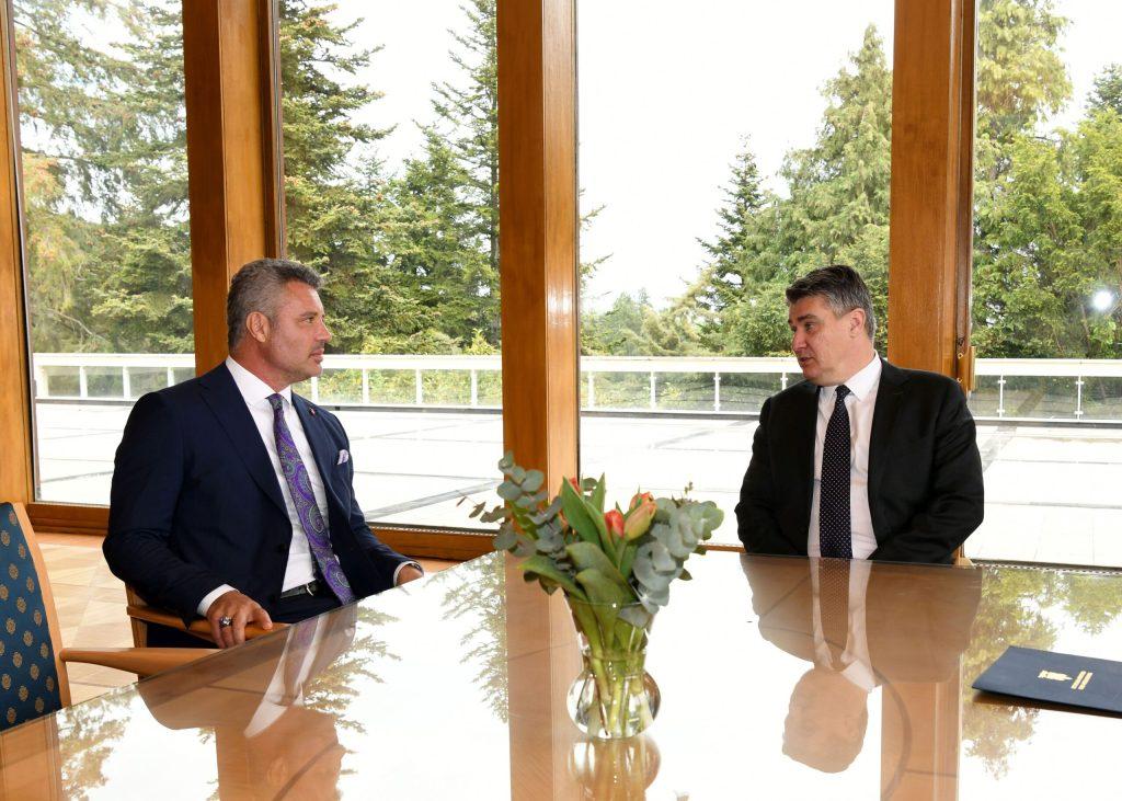 Predsjednik Milanović s predsjednikom Uprave Saran Grupe Sadettinom Saranom