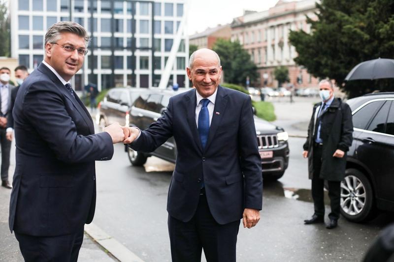 Janša u Zagrebu: Hrvatska i Slovenija zajedno se bore za širenje prostora slobode