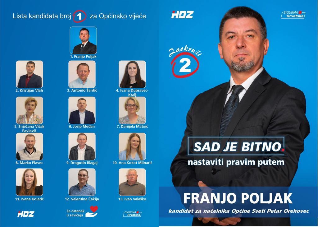 Franjo Poljak – kandidat za načelnika Općine Sveti Petar Orehovec