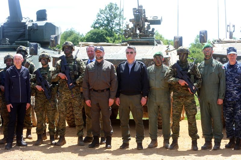 "Na vojnom poligonu ""Eugen Kvaternik"" održana međunarodna vojna vježba ""Immediate Response 21"""