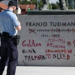 Pronađena 34-godišnjakinja koja je išarala spomenik predsjedniku Tuđmanu