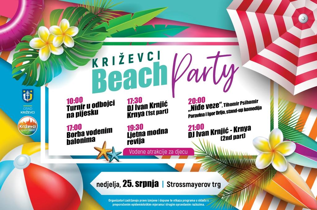 """Križevci Beach Party"" donosi ljetno osvježenje na Strossmayerov trg"