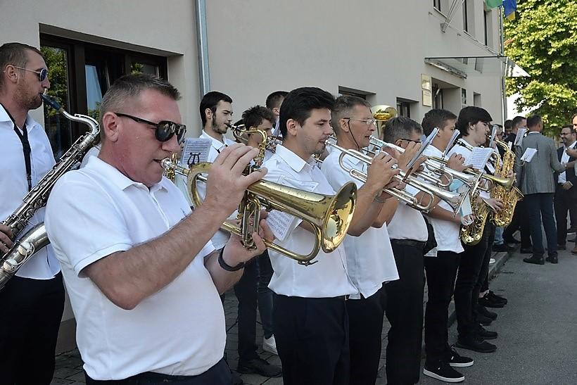 [VIDEO] Puhački orkestar Čazma dočekao goste