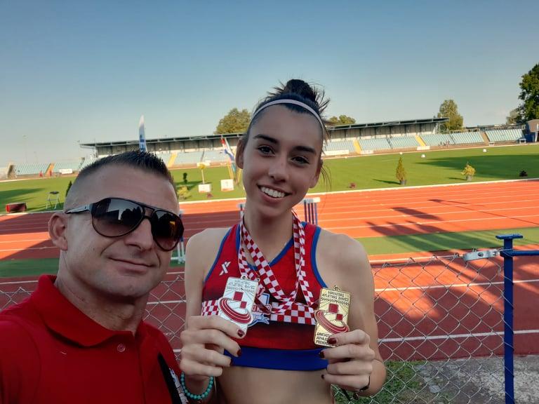 ATLETIKA – MLAĐESENIORSKO PRVENSTVO HRVATSKE U KARLOVCU Križevčani osvojili šest medalja