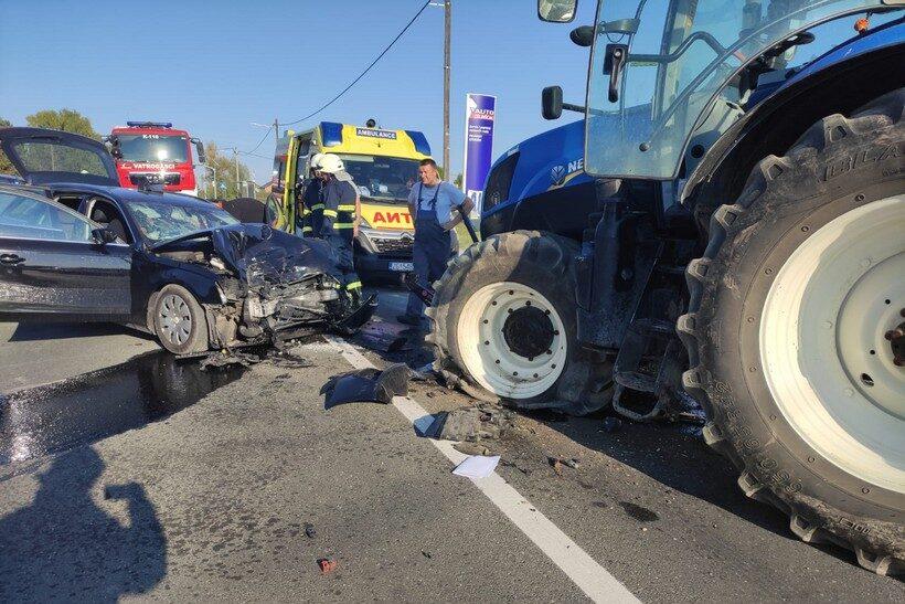 U sudaru s traktorom izvukao deblji kraj; teško ozlijeđen 65-godišnjak