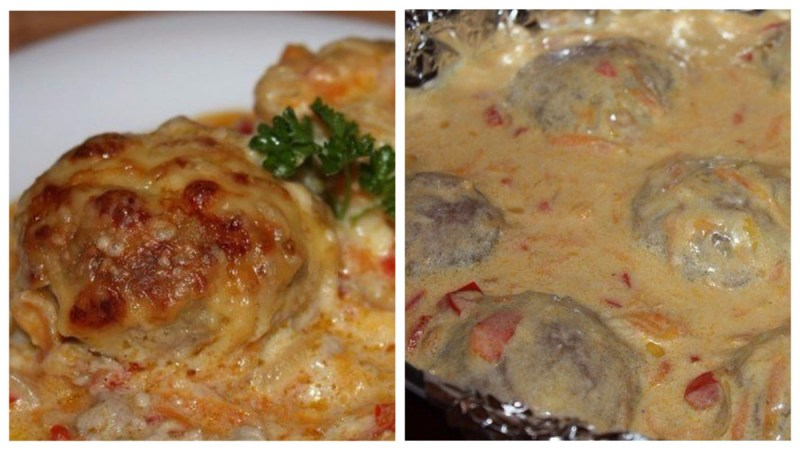 Тефтели в сметанном соусе «Вкусняшки»
