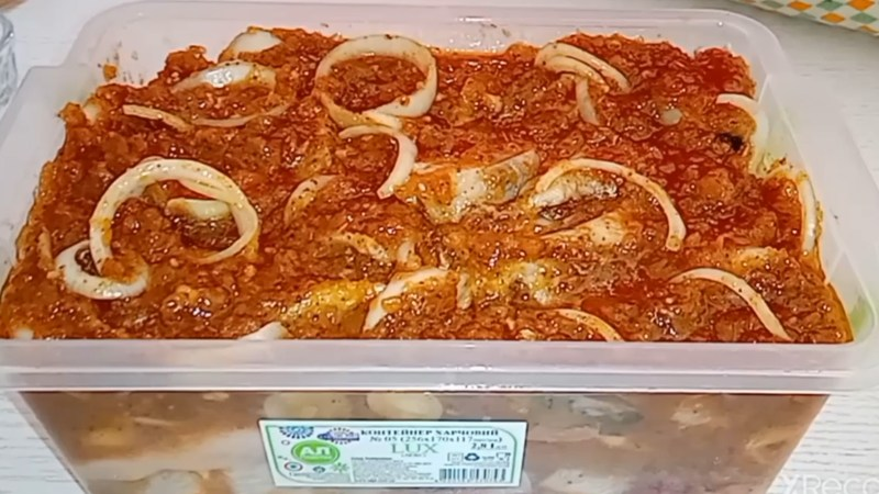 Вкусная селедка по-корейски