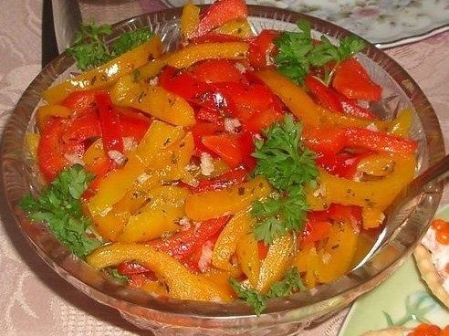 Маринованный болгарский перец за 15 минут