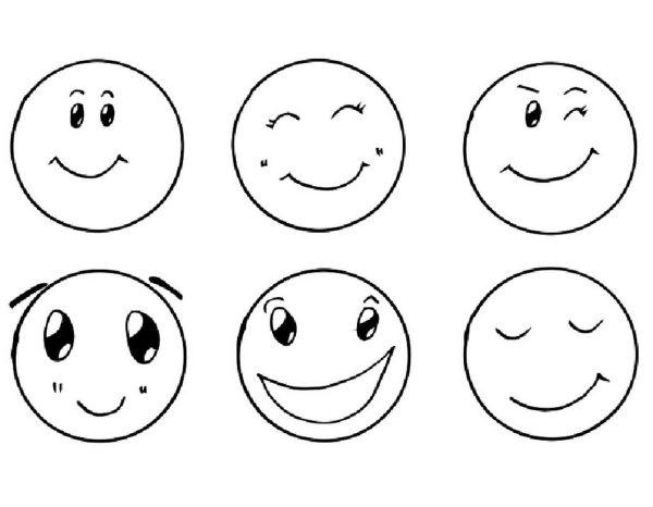 Смайлики настроения картинки для детей распечатать ...