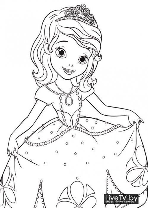 Раскраска принцесса софия 187 Скачать лучшие картинки