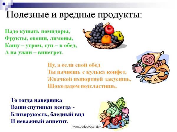 Картинки для детей полезные и вредные продукты питания ...
