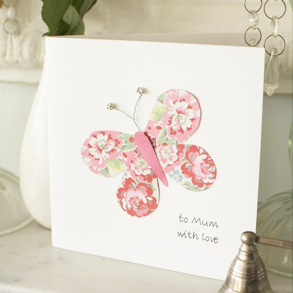 Beautiful butterfly homemade Mother's Day card. Step by ...