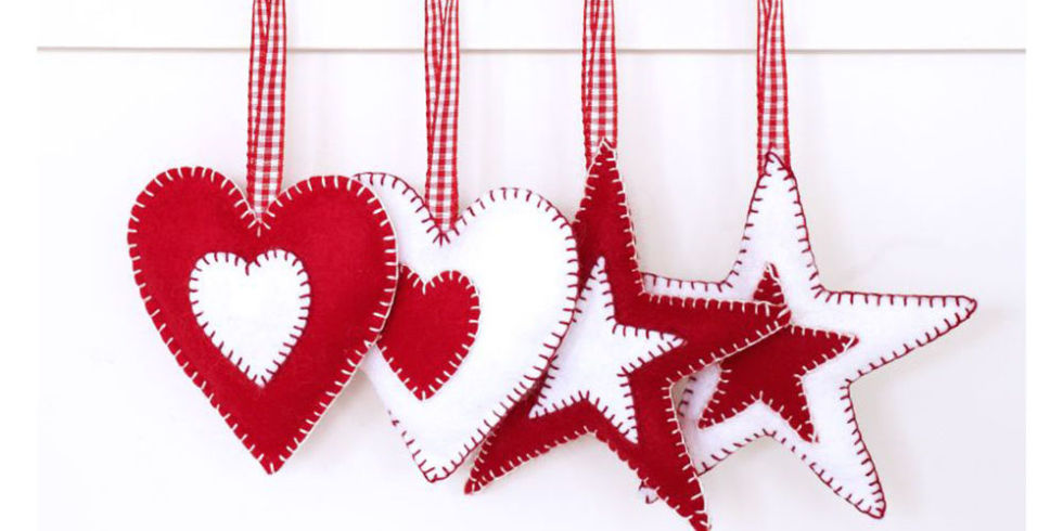 Image result for craft on heart shape christmas