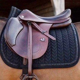Kentucky Horsewear Glitter and Rope Saddle Pad Black