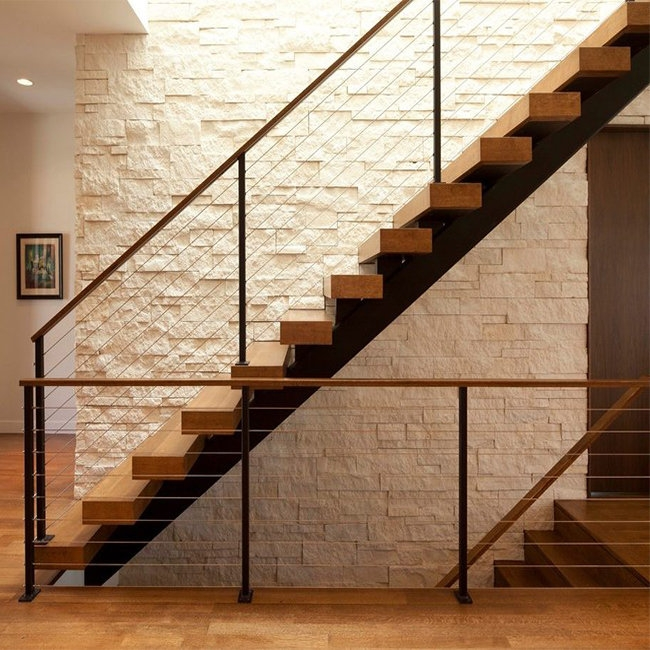 Professional Design Metal Straight Steel Staircase   Modern Home Stair Railings   Front Porch Stair Railing   Loft   Modern Glass Balustrade   Simple 2Nd Floor Railing Wood Stairs Iron Railing Design   Steel