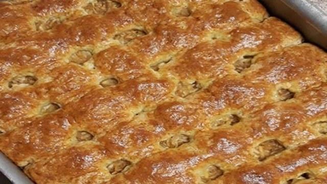 Recept na smetanový koláč s jablky
