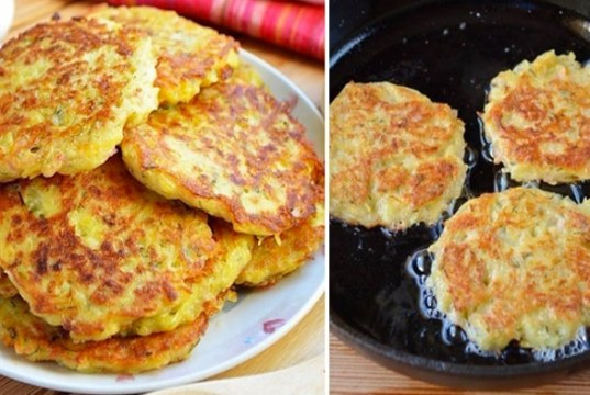 Recept na bramborové placičky se sýrem a šunkou