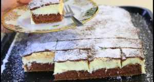 Recept na kokosový koláč s krémovou náplní