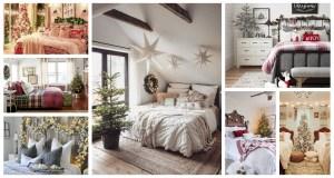 Inspirace jak vánočně vyzdobit ložnice. Zdroj: Pinterest