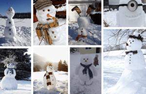 Inspirace na originální sněhuláky