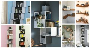 Využijte každý prostor v domácnosti: 30+ inspirací na rohové police