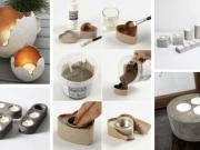 Inspirace na výrobu svícnů z cementu