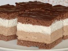 Recept na krémové řezy s čokoládovou polevou