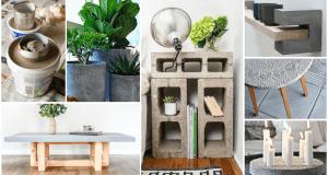 Jak využít beton k dekoračním účelům a k výrobě nábytku