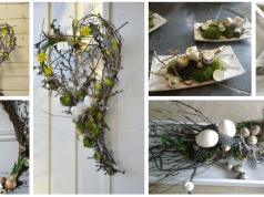 Proutí, mech a kraslice: Vytvořte si jednu z těchto krásných dekorací