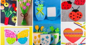 Jarní tvoření s dětmi - přáníčko k MDŽ