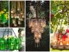 Úchvatné jarní lustry do zahrad, které jsou vyrobeny ze zavařovaček!