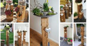 Starý trám proměnili v krásné dekorace: Prohlédněte si úžasné nápady