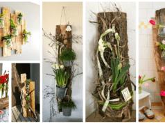 Krásné dekorace z kusu dřeva
