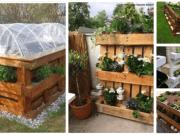 Inspirace na výtvory z palet do zahrady, na které stačí několik palet
