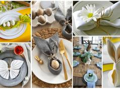 Jarní inspirace na sváteční prostírání stolu ve velikonočním stylu!