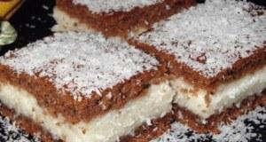 Recept na kakaové řezy s kokosem a krémem: Recept zde