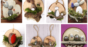 Inspirace na jarní tvoření: Využijte kamínky a odřezky z kmene stromu!