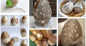Inspirace na zkrášlení umělohmotných vajec provázkem