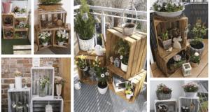 20+ krásných jarních dekorací: Využijte obyčejné dřevěné bedýnky!