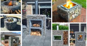 Vytvořte si originální zahradní grilovací gabion