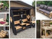 Inspirace na zahradní nábytek z dřevěných palet