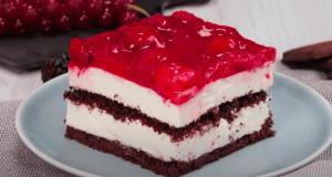 Recept na vynikající rychlý jahodový koláč bez pečení