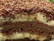 Recept na sušenkový dort s banány a čokoládou