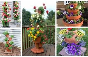 Úžasná zahradní dekorace: Vytvořte si květinovou věž