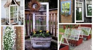 Jak proměnit staré okna v zahradní dekorace