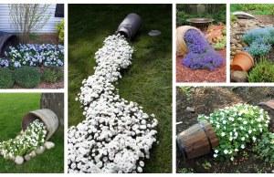 Inspirace na rozlité květinové potůčky
