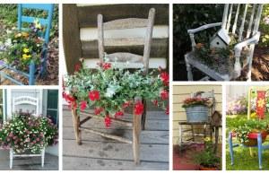 Jak využít staré židle v zahradě jako dekorace